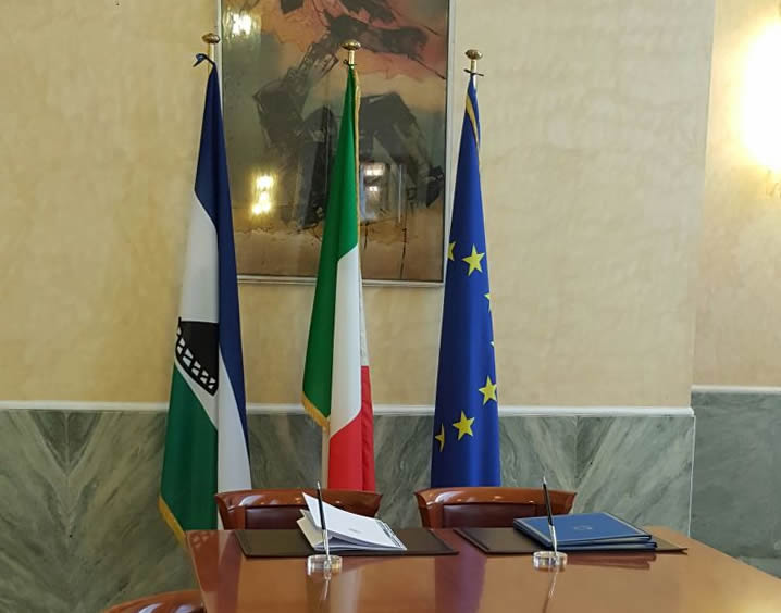 Latest News - Italy and Lesotho signed the Memorandum of Understanding on Cooperation in the field of Health
